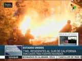 Miles de personas son evacuadas en California por incendios forestales