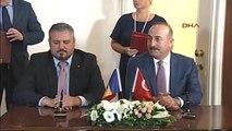 Dışişleri Bakanı Çavuşoğlu, Moldova Disisleri Bakani Andrei Galbur ile Ortak Basın Toplantısı...