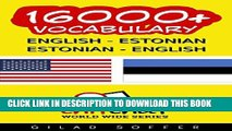 [PDF] 16000+ English - Estonian Estonian - English Vocabulary (ChitChat WorldWide) Popular Online