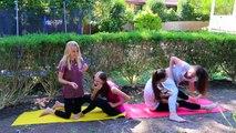 Girls gymnasts. Yoga challenge! We accept the challenge!