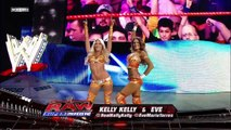 WWE RAW 01/02/2012 - Kelly Kelly & Eve Torres v.s The Bella Twins