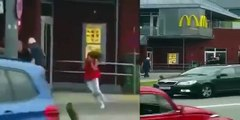 Munich Attack - Zoomed video of shooter shooting at people