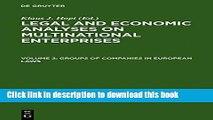 [PDF]  Groups of Companies in European Laws / Les Groupes de Societes En Droit Europeen