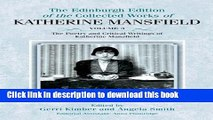 PDF The Poetry and Critical Writings of Katherine Mansfield (The Collected Works of Katherine