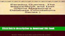 Read Paradox Queries: The Basics (covers Paradox for windows and Paradox for DOS)/Book and Disk