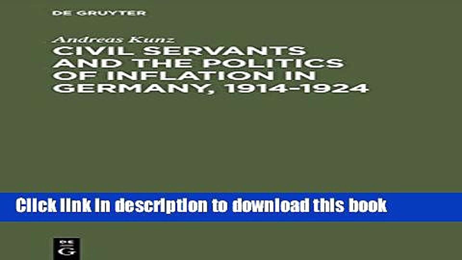 [PDF]  Civil Servants and the Politics of Inflation in Germany 1914-1924  [Download] Online