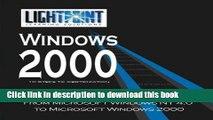 Read Migrating from Microsoft Windows NT 4.0 to Microsoft Windows 2000 Ebook Free