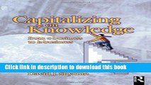 Read Capitalizing on Knowledge  Ebook Free