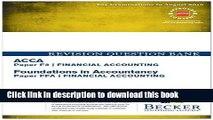 F3 Financial Accounting FA INTUK Exam Kit Acca Exam Kits