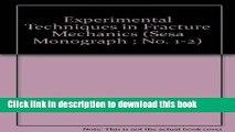 [PDF] Experimental Techniques in Fracture Mechanics (Sesa Monograph ; No. 1-2) Read Full Ebook