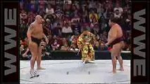 Big Show attempts to overpower sumo champion Akebono