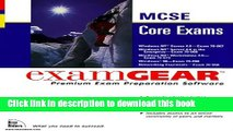 Download McSe Core Exams: Examgear : 70-067, 70-068, 70-073, 70-098, 70-058 PDF Online