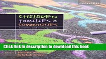 Read Children, Families and Communities: Contexts and Consequences  Ebook Online
