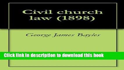 Civil church law (1898)