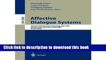 Read Affective Dialogue Systems: Tutorial and Research Workshop, Ads 2004, Kloster Irsee, Germany,