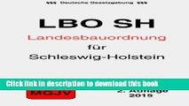 [PDF]  Landesbauordnung für das Land Schleswig-Holstein: LBO Schleswig-Holstein  [Read] Full Ebook