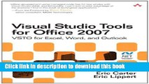 Download Visual Studio Tools for Office 2007: VSTO for Excel, Word, and Outlook (Microsoft Windows