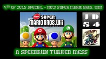 I DON'T THINK THIS IS A SPEEDRUN - New Super Mario Bros. Wii - 2016 Super-Late 4th of July Special PT. 2