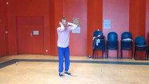 Les danseurs et musiciens répètent pour le spectacle final de Temps-Fête 2016