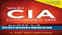 Read Books Wiley CIA Exam Review 2013, Complete Set (Parts 1 - 3) ebook textbooks