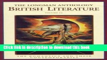 Read The Longman Anthology of British Literature, Volume 2A: The Romantics and Their