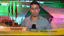 Titulares de Teleantioquia Noticias - viernes 15 de noviembre de 2013