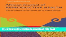 [PDF]  African Journal of Reproductive Health: Vol.20, No.1 March 2016  [Download] Online
