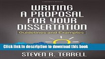 Read Writing a Proposal for Your Dissertation: Guidelines and Examples  Ebook Free