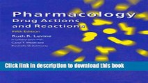 Download Pharmacology: Drug Actions and Reactions, 5th Edition  EBook