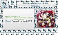 Recette cornes chocolatées aux amandes Délicieux Recettes Marocaine