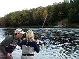 River Tay 24 lbs salmon Jock Monteith Scottish salmon guide