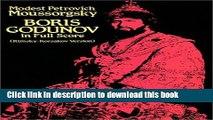 Read Boris Godunov in Full Score (Rimsky-Korsakov Version) Ebook Free