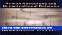 Read Human Resources and Organizational Behavior: Cases in Health Services Management Ebook Free