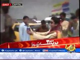 Peshawar University Students Appreciates Peshawar Police By Giving Them Flowers