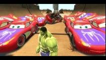 Disney Kids Rhymes Pixar Cars Spiderman Lightning McQueen! HULK SMASH PARTY CARS