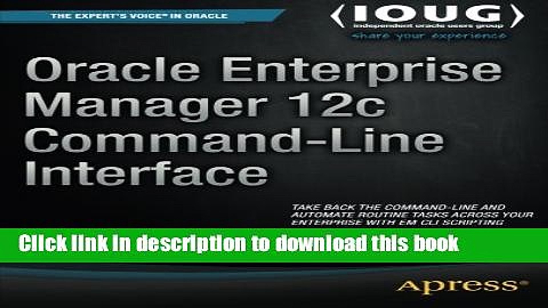 Read Oracle Enterprise Manager 12c Command-Line Interface Ebook Free