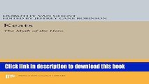 Download Keats: The Myth of the Hero (Princeton Legacy Library) [PDF] Full Ebook