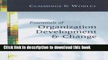 Read Books Essentials of Organization Development and Change E-Book Free