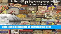 Read Mini-Ephemera Clip Art   CD: Over 400 Small Images for Collage, Altered Art, Journals,