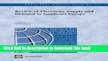 Read Books Review of Electricity Supply and Demand in Southeast Europe (World Bank Working Papers)