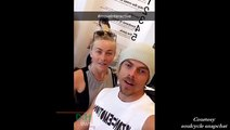 Derek Hough & Julianne Hough - Move interactive SoulCycle (Part 2) - July 24, 2016 (Snapchat posts)