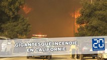 Californie: Un gigantesque incendie ravage des hectares de forêt