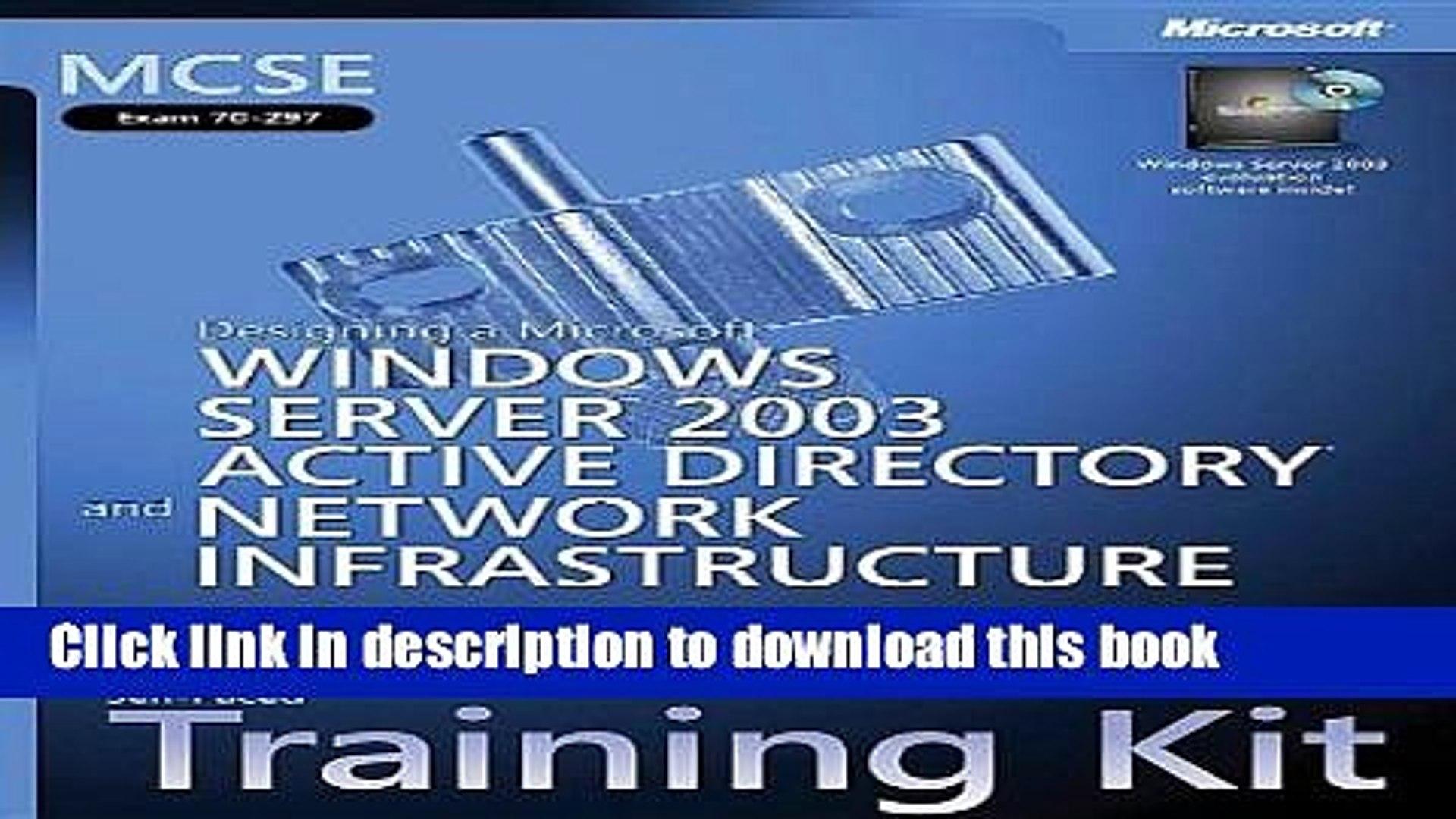 Read MCSE Self-Paced Training Kit (Exam 70-297): Designing a Microsoft® Windows Server™ 2003