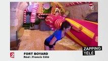 Iris Mittenaere sur les cylindres de Fort Boyard ! - ZAPPING TÉLÉ DU 25/07/2016 par lezapping
