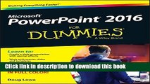 PDF PowerPoint 2016 For Dummies (Powerpoint for Dummies) Free Books