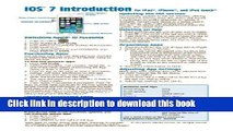 Read iOS 7 Introduction Quick Reference Guide: for iPad, iPhone, and iPod touch (Cheat Sheet of