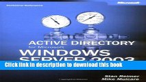 Read Active Directory for Microsoft Windows Server 2003 Technical Reference Ebook Free