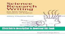 Read Books Science Research Writing for Non-Native Speakers of English PDF Online