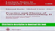 Download Practice and Theory of Automated Timetabling II: Second International Conference, PATAT