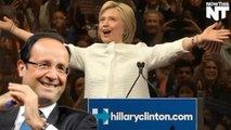 France's President Francois Hollande Endorses Hillary Clinton